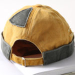 New Men Women Leisure Cotton Patchwork French Brimless Hat