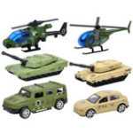 New 3PCS Model Toys Plane Car Racing Military Alloy Vehicle Engineering Model Building Gift Decor
