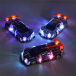 New 1PC Heshengyuan Toys 664-85 1/18 27MHZ 4CH Rc Car Simulation Colorful LED Lights without Battery