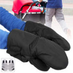 New 1 Pair Winter Warmer Thickened Gloves Baby Pushchair Stroller Hand Pram Muff Work Gloves