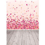 New 3x5FT Vinyl Valentine's Day Red Pink Heart Wood Floor Photography Backdrop Background Studio Prop