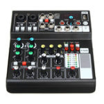 New Mini 6 Channels USB Portable Audio Mixer Bluetooth Live Stage Audio Mixing Console