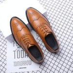 New Brogue Carved Dress shoes Business Oxfords