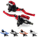New 7/8″ Motorcycle Master Cylinder Hydraulic Brake Pump Clutch Handlebar Lever Reservoir Set