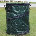 New 45*75cm PE Woven Folding Portable Garden Leaves Trash Bag Can Storage Bucket