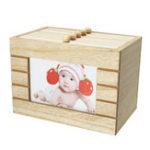 New Retro Wood Photo Album Box Wooden Case Wedding Gift DIY 6 inch 100Pcs Storage