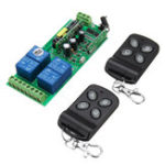 New 433MHz 220V Four Channel Lamps Remote Control Switch 4CH Wireless Remote Control Switch Learning Code Module