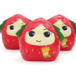 New Squishy Strawberry Girl  13CM Slow Rising Rebound Toys With Packaging Gift Decor