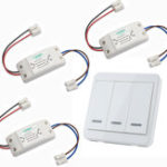 New 3pcs KTNNKG Wireless Light Switch Kit + KTNNKG 433MHz Universal Wireless Remote Control 86 Wall Panel RF Transmitter With 3 Buttons