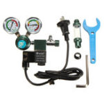 New 220V Aquarium CO2 System Pressure Regulator Gauge + Magnetic Solenoid Bubble Counter