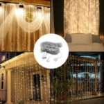 New 3M*3M 320 LED Waterfall Curtain String Holiday Light for Wedding Valentine's Day AC110V