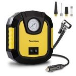 New Tsumbay DC 12V Electric Tyre Inflator Digital Portable Tyre Air Compressor Pump