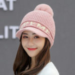 New Winter Earmuffs Knit Beanie Hat Outdoor Ski Beret Cap
