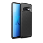 New Bakeey Protective Case For Samsung Galaxy S10 6.1 Inch Slim Carbon Fiber Fingerprint Resistant Soft TPU Back Cover
