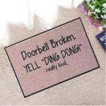 New Kitchen Toilet Hilariously Welcome Doormat Rubber Floor Mats Non Slip Rug Carpet