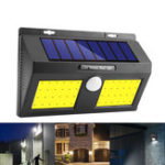 New 100 COB LED Solar Power Wall Light PIR Motion Sensor Garden Security Outdoor Yard