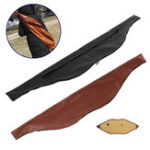 New 145X27cm Archery Recurve Bow Bag PU Leather Traditional Bow Carrying Case Holder Arrow Shooting Hunting Outdoor Sports Accessories