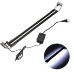 New 8W 50cm Adjustable 2835 LED Aquarium Fish Tank Super Slim Light Lamp Black