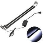 New 8W 50cm Adjustable 2835 LED Aquarium Fish Tank Super Slim Light Lamp Black