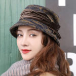 New Women Outdoor Woolen Bucket Cap Fisherman Hat