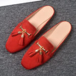 New Large Size Fringe Closed Toe Casual Flats Loafers
