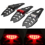 New Universal Motorcycle Enduro Trial Dirt Bike Mud Guard LED Stop Rear Tail Light