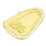 New Portable Folding Bed Baby Pillow Sleep Cushion Cot Crib Newborn Nest Bed Mattress Breathable