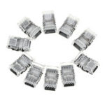 New 10PCS 4Pin 10mm No Weld Board to Wire Connector Terminal for IP20 RGB LED Strip Light