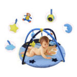New Blue Bear Baby Play Mat Activity Gym Newborn Infant Game Playmat Crawling Carpet