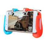 New 2 in1 Gamepad Game Controller Handle L1R1 Shooter Trigger Fires Button For PUBG Mobile Game For Android IOS Smartphone