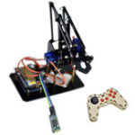 New  DIY STEAM Arduino Smart RC Robot Arm Acrylic Educational Kit With Servos