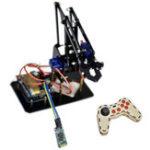 New  DIY STEAM Arduino Smart RC Robot Arm Acrylic Educational Kit With Servos