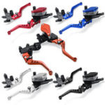 New 7/8″ 22mm Motorcycle Handlebar Hydraulic Brake Clutch Master Cylinder Lever Reservoir Set