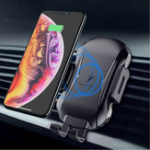 New FLOVEME 10W Automatic Clamping Qi Wireless Car Charger For iPhone X Xs Max S9 Note 9 Xiaomi Mix 3