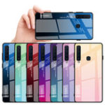 New Bakeey Gradient Tempered Glass Protective Case For Samsung Galaxy A9 2018 Scratch Resistant Back Cover