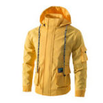 New Mens Fashion Hooded Big Pockets Casual Jacket