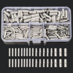 New 200Pcs Copper Butt Splice Wire Connector 22-10AWG Bare Tinned Crimp Terminal W/ Case