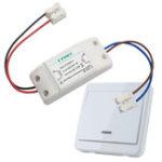 New KTNNKG Wireless Light Switch Kit + KTNNKG 433MHz Universal Wireless Remote Control 86 Wall Panel RF Transmitter With 1 Buttons