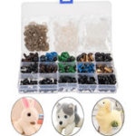 New 264Pcs 6-12mm Black Colorful Thread Eyes For Teddy Bear Doll Felting Animals Toy Crafts DIY Accessories