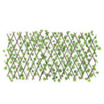 New Expandable Artificial Faux Ivy Leaf Hedge Panels On Roll Garden Screen Fence Decorations