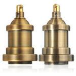 New AC110-240V 600W E27 Vintage Copper Bulb Adapter Light Socket Lampholder