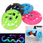 New 120mm LED Flash Light Up Wheels For Scooter Inline Skates 2 ABED-7 Bearing