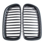 New Pair Carbon Fiber ABS Front Kidney Grille For BMW F18 F10 F11 5 Series 2010-2016