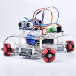 New DIY Arduino STEAM Smart RC Robot Car Programmable Omni Wheels Educational Kit