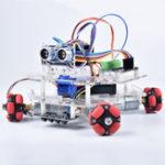 New DIY Arduino STEAM Smart RC Robot Car Programmable Omni Wheels Educational Kit