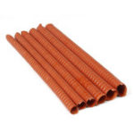 New Orange Air Ducting Pipe Flexible Silicone Hose Hot And Cold Cooling Transfer Extractor