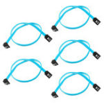 New 5 x 18″ SATA 3.0 Cable SATA3 III 6GB/s Right Angle 90 Degree HDD Hard Drive Converter Cable
