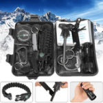 New IPRee® 13 In 1 Outdoor EDC SOS Survival Case Multifunctional Tools Kit Box Camping Emergency