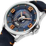 New CURREN 8305 3D Number Design Date Display Men Wrist Watch