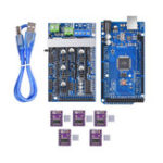 New Upgrade Ramps 1.6 Base On Ramps1.5 Control Mainboard with Mega2560 R3 Reprap Mendel + 5Pcs DRV8825 Kit for 3D Printer